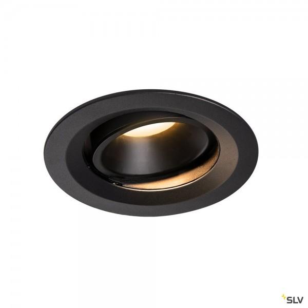 SLV 1003583 Numinos Move M, Deckeneinbauleuchte, schwarz, LED, 17,55W, 3000K, 1500lm, 55°