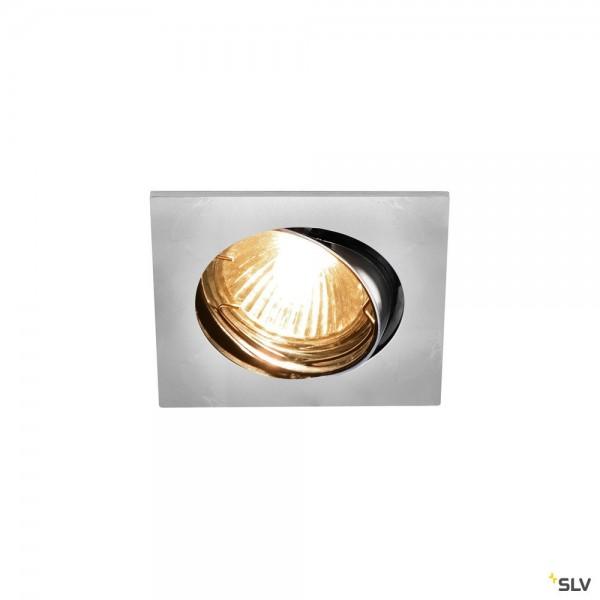SLV 1002211 Pika, Deckeneinbauleuchte, silbergrau, QPAR51, GU10, max.50W