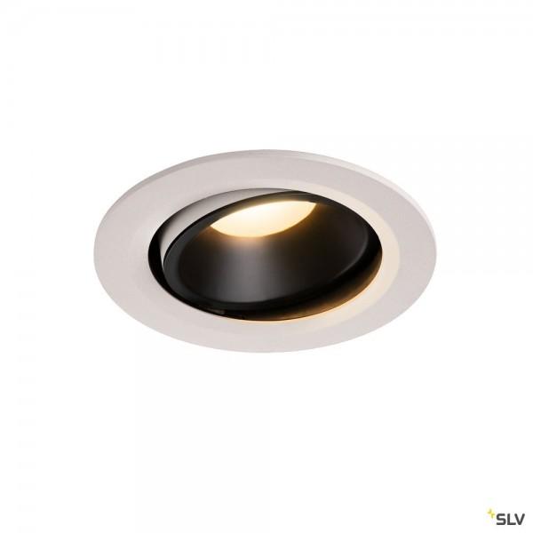 SLV 1003667 Numinos Move L, Deckeneinbauleuchte, weiß/schwarz, LED, 25,41W, 3000K, 2150lm, 55°