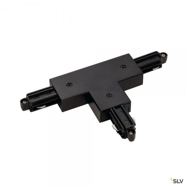 SLV 143070 1 Phasen, Aufbauschiene, T-Verbinder, Erde links, schwarz