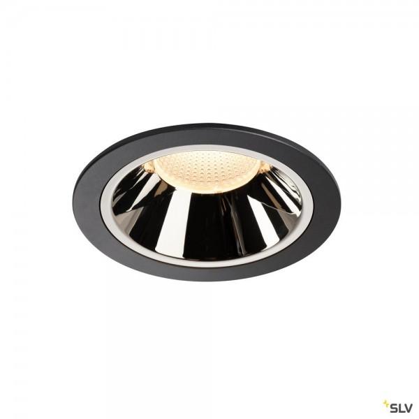 SLV 1004011 Numinos XL, Deckeneinbauleuchte, schwarz/chrom, LED, 37,4W, 3000K, 3500lm, 20°