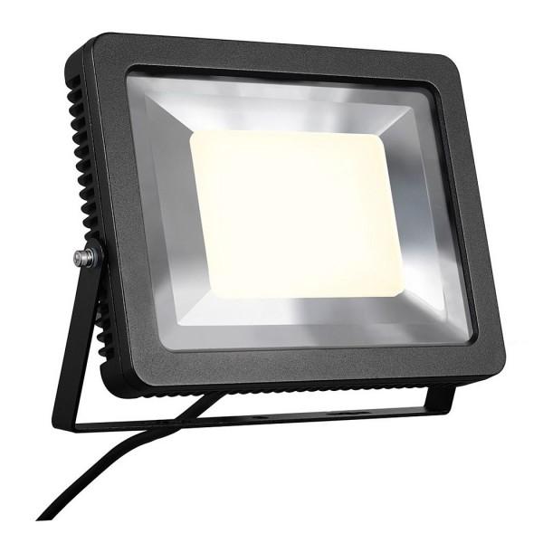 SLV 1000294 Ardo, Strahler, schwarz, mit Netzstecker, IP55, LED, 60W, 3000K, 5100lm
