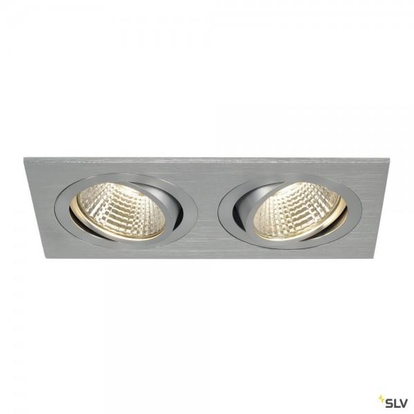 SLV 113926 New Tria 2 Set, Deckeneinbauleuchte, alu gebürstet, LED, 14W, 3000K, 1250lm