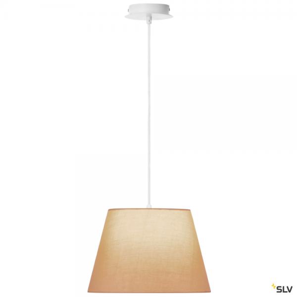 SLV 155561 + 156163 Fenda, Pendelleuchte, weiß/beige, Ø30cm, E27, max.60W
