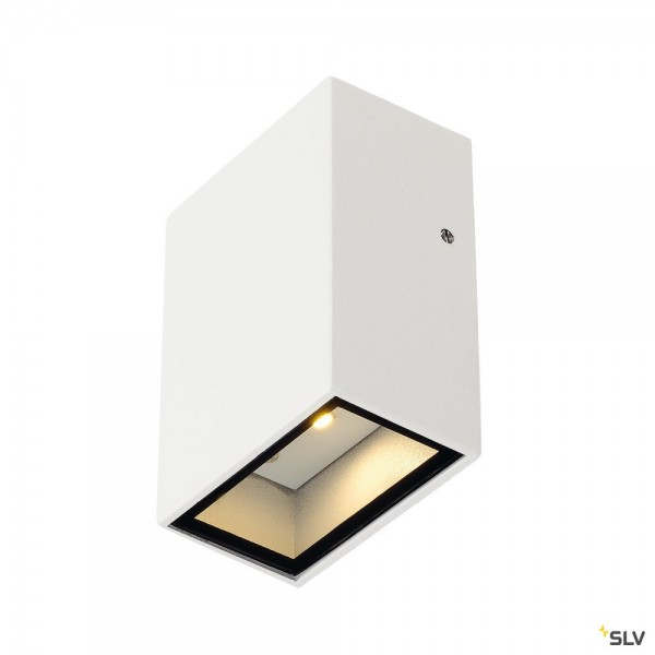 SLV 232461 Quad 1, Wandleuchte, weiß, IP44, LED, 4,6W, 3000K, 100lm