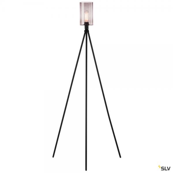 SLV 155490 + 1000773 Fenda, Stehleuchte, Rauchglas, schwarz/braun, E27, max.40W