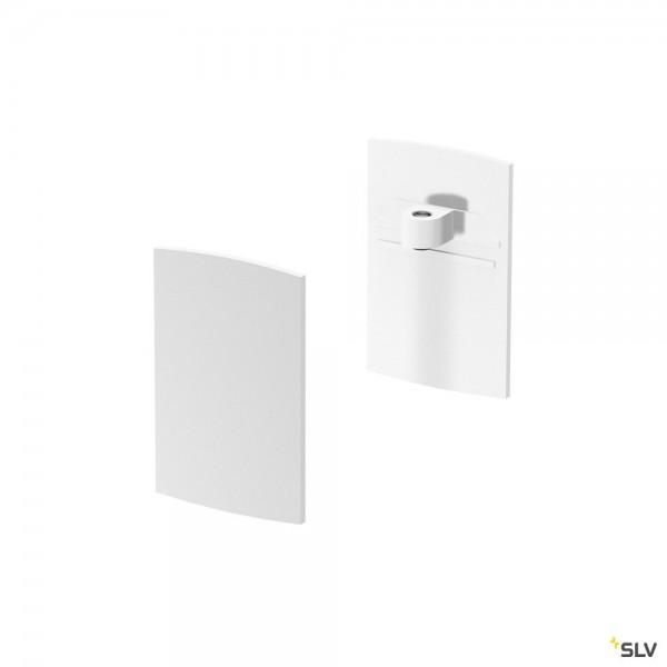 SLV 1001808 Endkappen 2 Stück, weiß, H-Profil