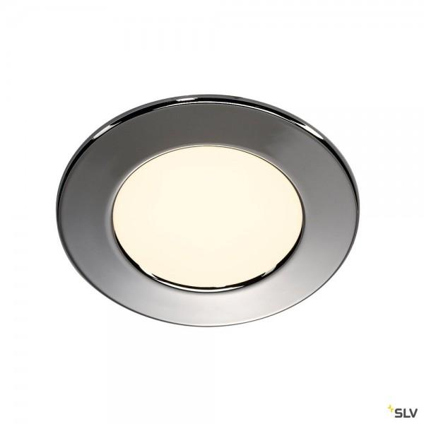 SLV 112162 DL 126, Wand- und Deckeneinbauleuchte, chrom, LED, 2,8W, 2700K, 160lm