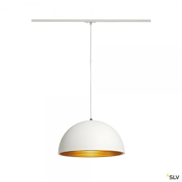 SLV 143931 Forchini M, 1Phasen, Pendelleuchte, weiß/gold, E27, max.40W
