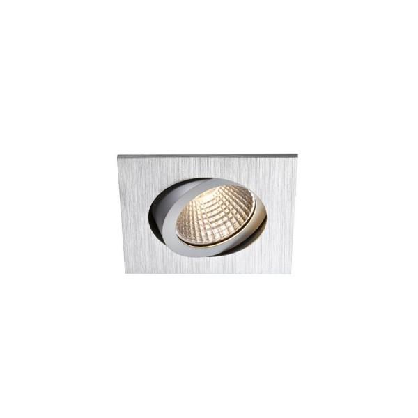 SLV 1000308 Pireq 68 Integrated, Einbauleuchte, alu gebürstet, IP23, LED, 6,6W, 3000K, 580lm