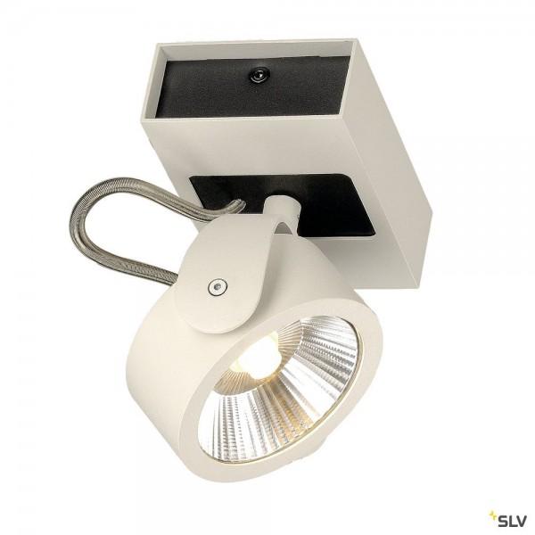SLV 147601 Kalu, Strahler, schwarz/weiß, dimmbar Triac C+L, LED, 11W, 3000K, 660lm, 14°