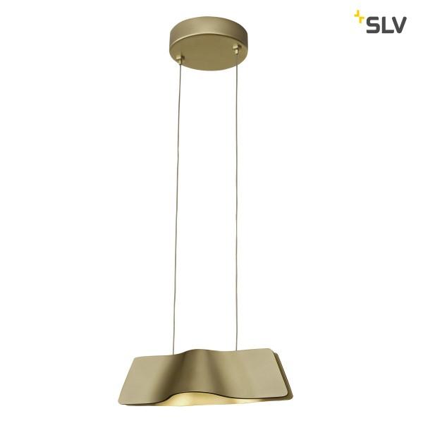 SLV 1000643 Wave 25, Pendelleuchte, gold, Dim to Warm C, LED, 12W, 2000K-3000K, 440lm