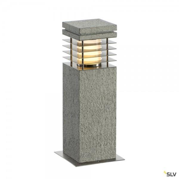 SLV 231410 Arrock Granite 40, Standleuchte, Edelstahl/Granit, salt&pepper, IP44, E27, max.15W