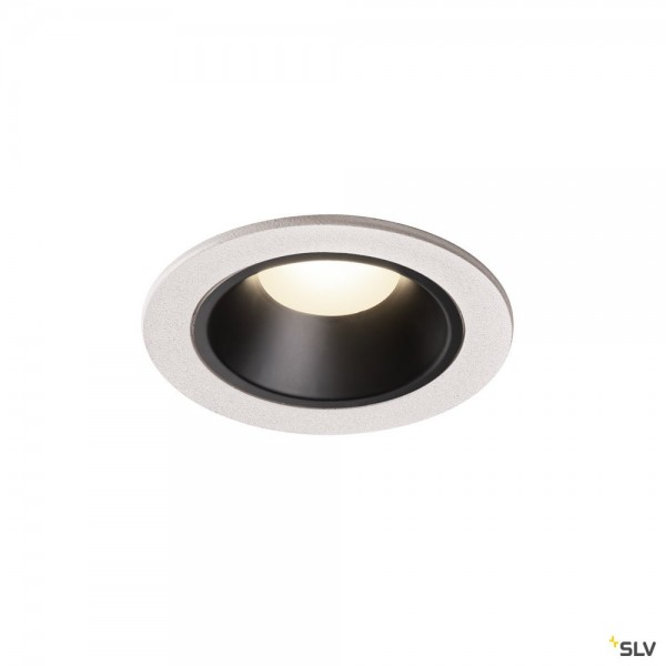 SLV 1003829 Numinos S, Deckeneinbauleuchte, weiß/schwarz, LED, 8,6W, 4000K, 730lm, 20°