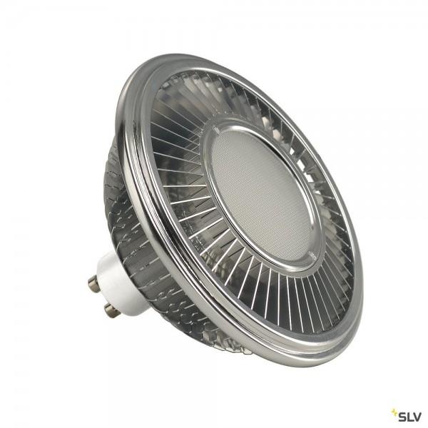 SLV 1001245 Leuchtmittel, aluminium, dimmbar, QPAR111, GU10, LED, 13W, 4000K, 1100lm, 140°
