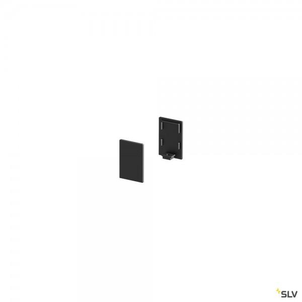 SLV 1000486 Endkappen 2 Stück, schwarz, hoch, Grazia 10