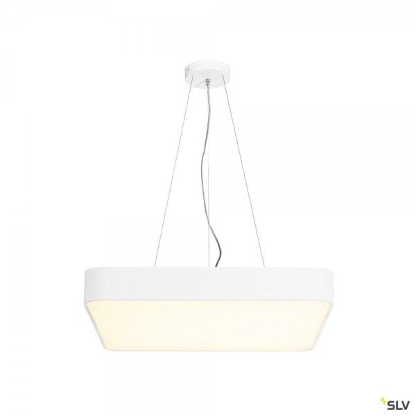 SLV 135251 + 1000726 Medo 60 Square, weiß, dimmbar 1-10V, LED, 39W, 3000K, 3300lm