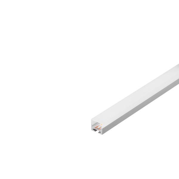 SLV 213434 Glenos 2020, Aufbauprofil, alu eloxiert/weiß, B/H/L 2x2x100cm, LED Strips max.B.1,6cm