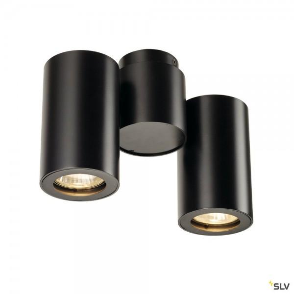 SLV 151830 Enola_B, Strahler, schwarz, QPAR51, GU10, max.2x50W