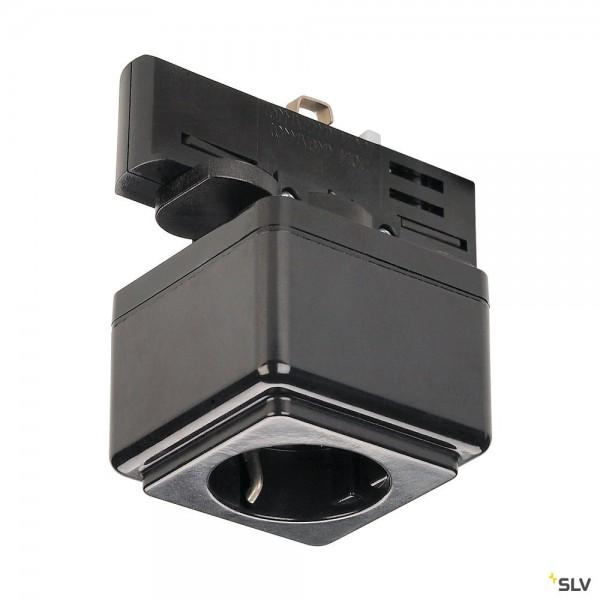 SLV 145700 3Phasen, Eutrac, Aufbauschiene, Schienensteckdose, schwarz