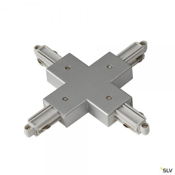SLV 143162 1 Phasen, Aufbauschiene, X-Verbinder, silbergrau