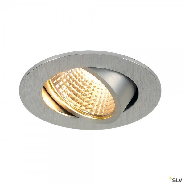 SLV 1003060 New Tria 68, Deckeneinbauleuchte, alu gebürstet, LED, 5,3W, 2700K, 300lm