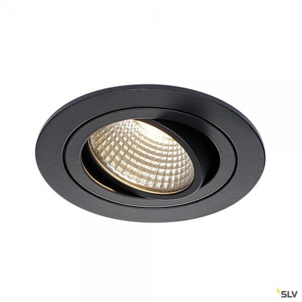 SLV 113900 New Tria 1 Set, Deckeneinbauleuchte, schwarz matt, LED, 8W, 3000K, 700lm