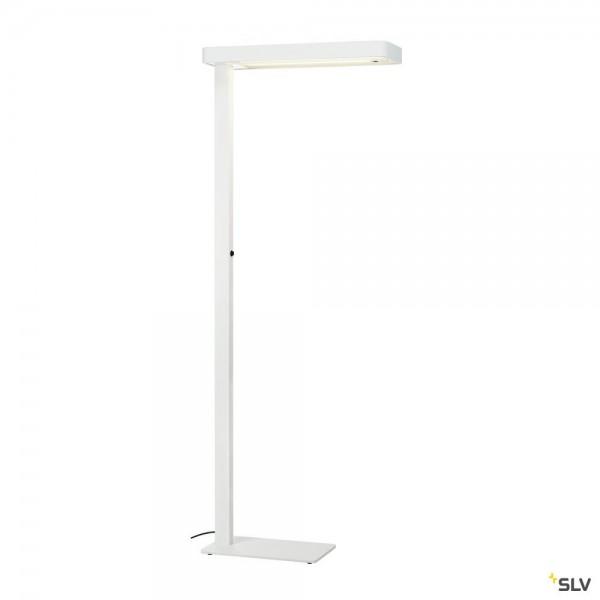SLV 1003523 Worklight Plus, Stehleuchte, weiß, dimmbar Switch, LED, 48W, 4000K, 5400lm
