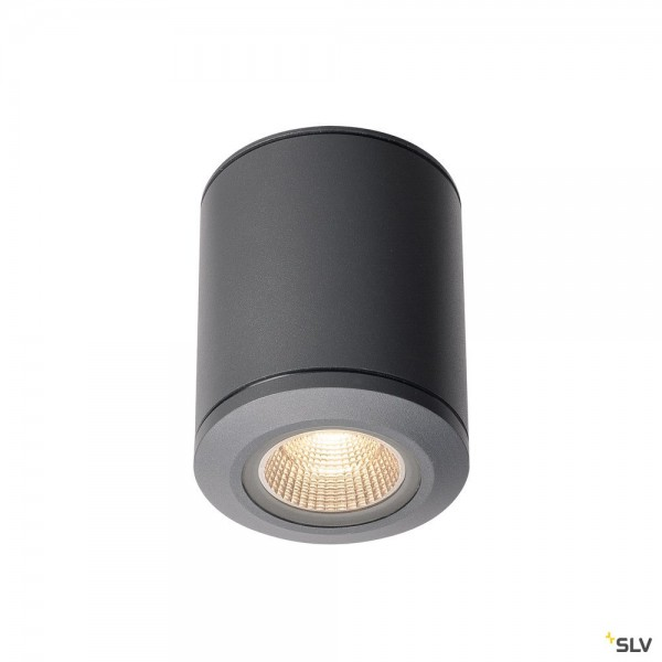 SLV 1000447 Pole Parc, Deckenleuchte, anthrazit, IP44, LED, 28W, 3000K, 2900lm