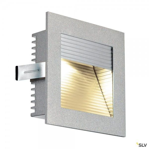 SLV 111292 Frame Curve, Wandeinbauleuchte, silbergrau, LED, 1W, 3000K, 60lm