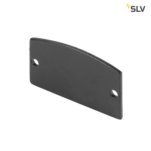 SLV 214380 Endkappen 2 Stück, schwarz matt, Glenos 2713