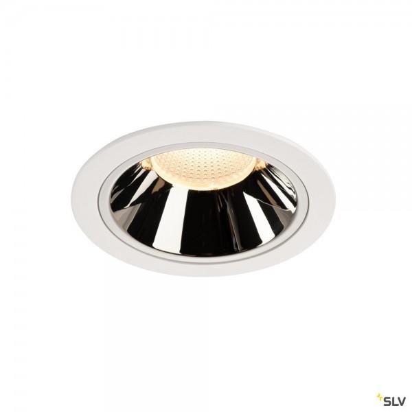 SLV 1004026 Numinos XL, Deckeneinbauleuchte, weiß/chrom, LED, 37,4W, 3000K, 3500lm, 40°