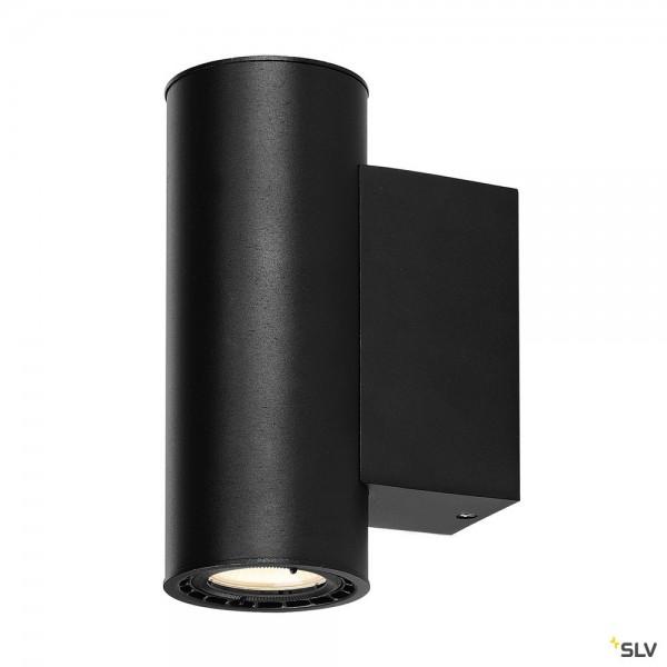 SLV 116340 Supros 78, Wandleuchte, schwarz, up&down, dimmbar C, LED, 24W, 3000K, 1400lm