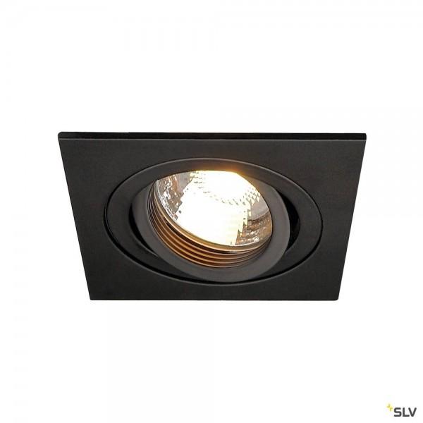 SLV 113491 New Tria 1, Deckeneinbauleuchte, schwarz, QPAR51, GU10, max.50W