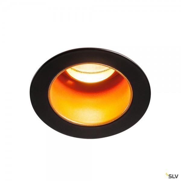 SLV 1001927 Horn Medi, Deckeneinbauleuchte, schwarz/gold, LED, 5W, 2700K, 275lm