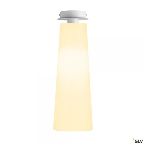 SLV 155551 + 156201 Fenda, Deckenleuchte, weiß, Ø15cm, E27, max.60W