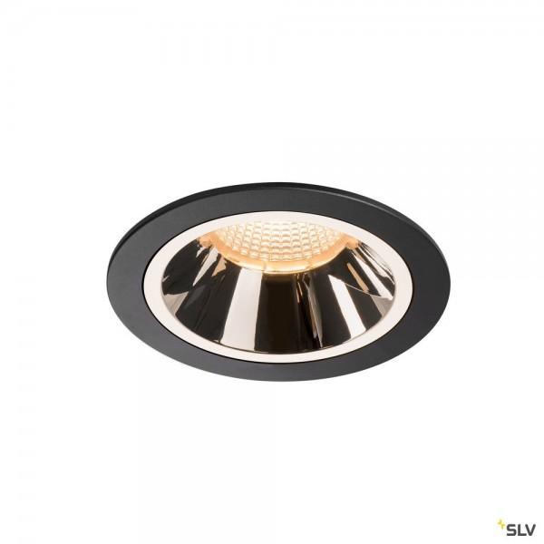 SLV 1003921 Numinos L, Deckeneinbauleuchte, schwarz/chrom, LED, 25,41W, 2700K, 2150lm, 55°