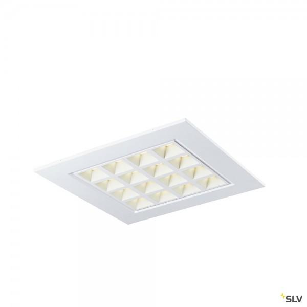 SLV 1003077 Pavano, Deckeneinbauleuchte, weiß, 59,5x59,5cm, LED, 25W, 4000K, 3550lm