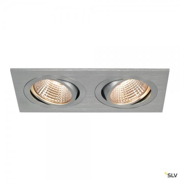 SLV 113896 New Tria 2 Set, Deckeneinbauleuchte, alu gebürstet, LED, 14W, 2700K, 1160lm
