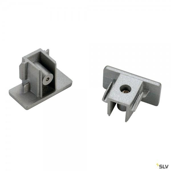 SLV 143132 1 Phasen, Aufbauschiene, Endkappen, silbergrau