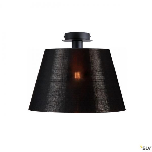 SLV 155550 + 156192 Fenda, Deckenleuchte, schwarz/schwarz/kupfer, Ø45,5cm, E27, max.60W