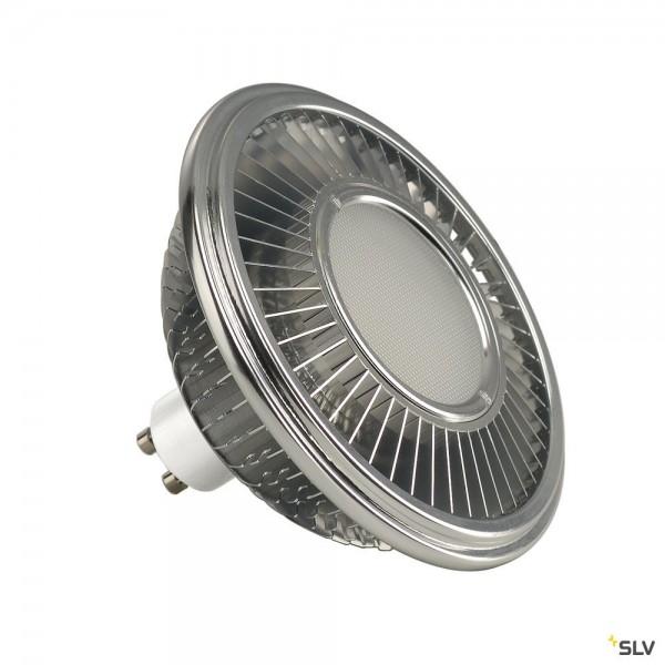 SLV 1001244 Leuchtmittel, aluminium, dimmbar, QPAR111, GU10, LED, 13W, 2700K, 1000lm, 140°