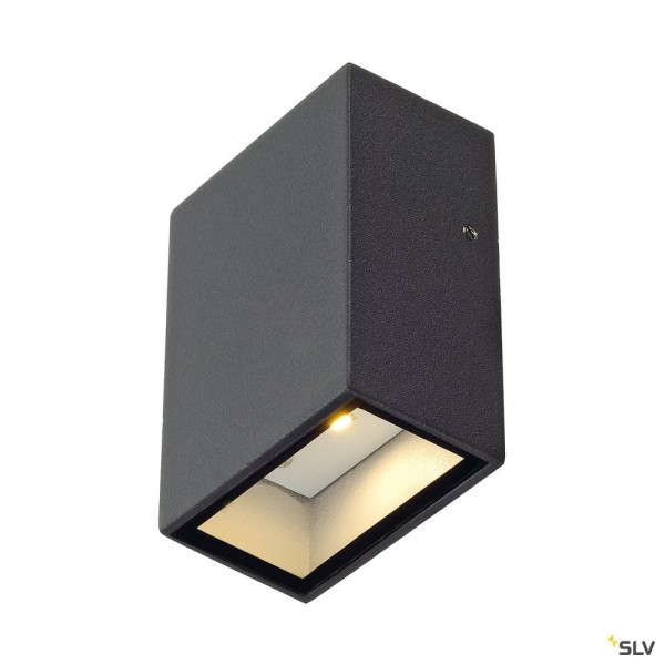 SLV 232465 Quad 1, Wandleuchte, anthrazit, IP44, LED, 4,6W, 3000K, 80lm
