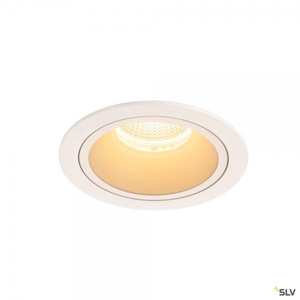SLV 1003953 Numinos L, Deckeneinbauleuchte, weiß, LED, 25,41W, 3000K, 2300lm, 40°