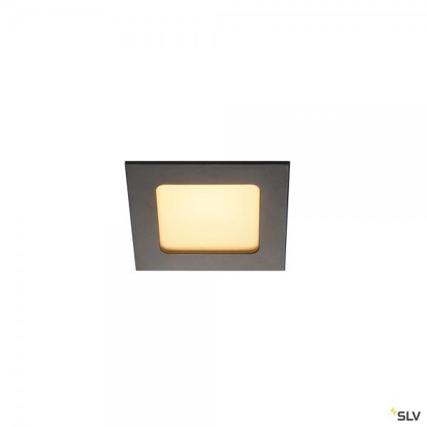 SLV 112720 Frame Basic, Wand- und Deckeneinbauleuchte, schwarz matt, LED, 8,6W, 3000K, 445lm