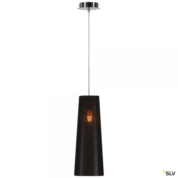 SLV 155562 + 156212 Fenda, Pendelleuchte, chrom/schwarz/kupfer, Ø15cm, E27, max.60W
