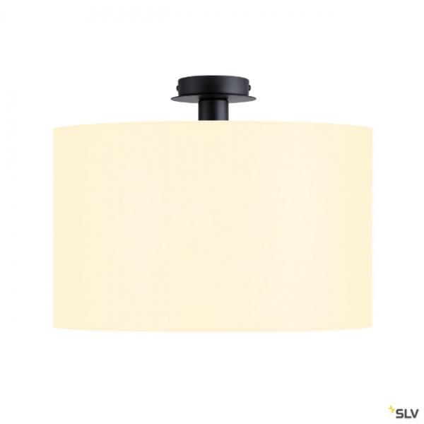 SLV 155550 + 156111 Fenda, Deckenleuchte, schwarz/weiß, Ø45,5cm, E27, max.60W