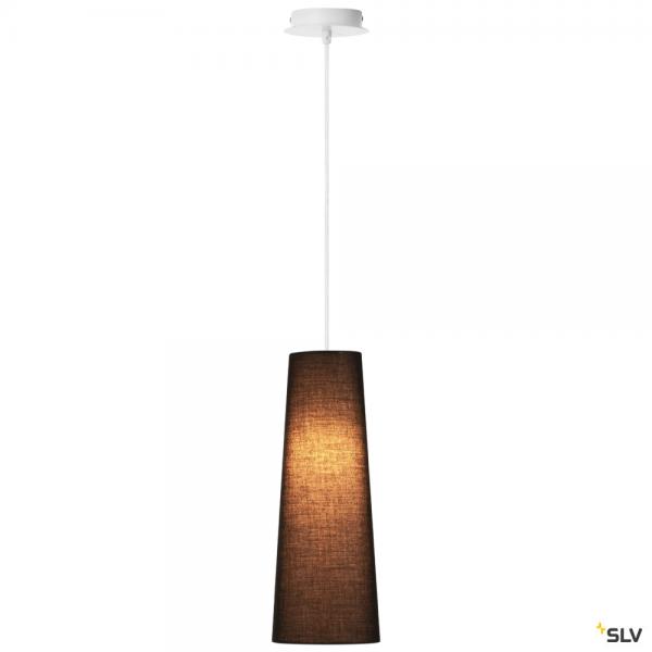SLV 155561 + 156200 Fenda, Pendelleuchte, weiß/schwarz, Ø15cm, E27, max.60W