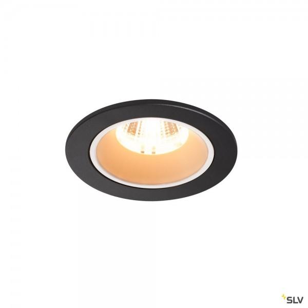 SLV 1003770 Numinos S, Deckeneinbauleuchte, schwarz/weiß, LED, 8,6W, 2700K, 720lm, 20°