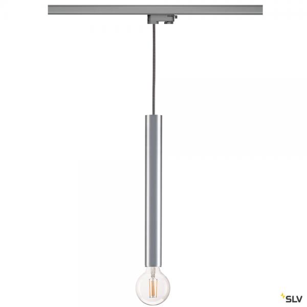 SLV 145994 + 1002161 Fitu, 3 Phasen, Pendelleuchte, silbergrau/aluminium, E27, max.60W